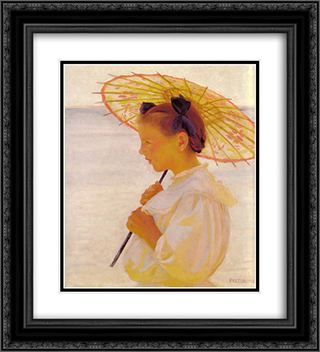 Child in the Sunlight 20x22 Black or Gold Ornate Framed and Double Matted Art Print by William McGregor Paxton