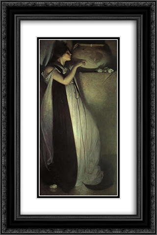 Isabella and the Pot of Basil 16x24 Black or Gold Ornate Framed and Double Matted Art Print by John White Alexander
