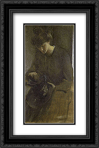 A Toiler 16x24 Black or Gold Ornate Framed and Double Matted Art Print by John White Alexander
