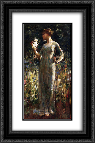 A King's Daughter 16x24 Black or Gold Ornate Framed and Double Matted Art Print by John White Alexander