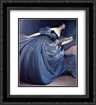 Althea 20x22 Black or Gold Ornate Framed and Double Matted Art Print by John White Alexander