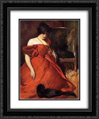 Black and Red 20x24 Black or Gold Ornate Framed and Double Matted Art Print by John White Alexander
