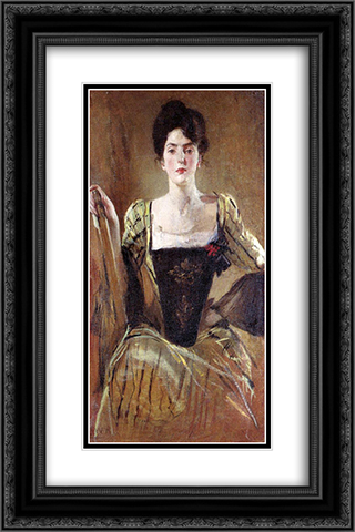 The Green Gown 16x24 Black or Gold Ornate Framed and Double Matted Art Print by John White Alexander
