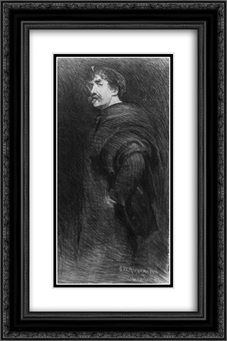 James McNeill Whistler 16x24 Black or Gold Ornate Framed and Double Matted Art Print by John White Alexander