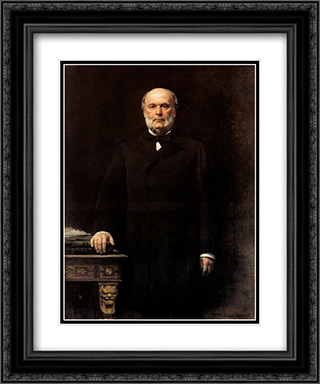 Portrait of Jules Grevy 20x24 Black or Gold Ornate Framed and Double Matted Art Print by Leon Bonnat