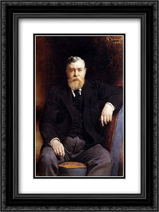 Portrait of Prince V. N. Tenishev 18x24 Black or Gold Ornate Framed and Double Matted Art Print by Leon Bonnat