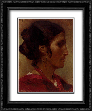 Ciociara 20x24 Black or Gold Ornate Framed and Double Matted Art Print by Leon Bonnat