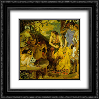 The Coat of Many Colors 20x20 Black or Gold Ornate Framed and Double Matted Art Print by Ford Madox Brown