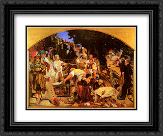 Work 24x20 Black or Gold Ornate Framed and Double Matted Art Print by Ford Madox Brown