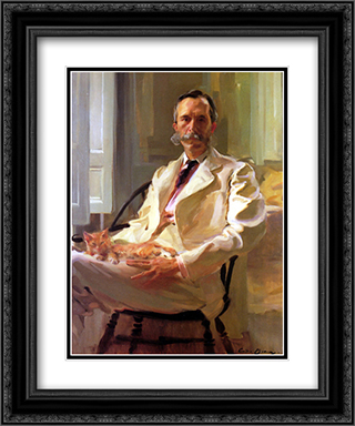 Henry Sturgis Drinker 20x24 Black or Gold Ornate Framed and Double Matted Art Print by Cecilia Beaux