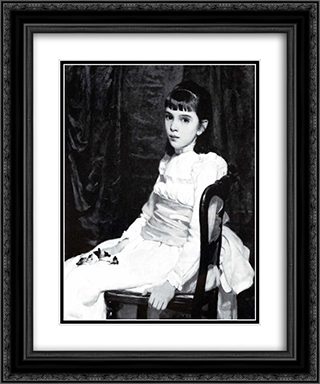 Little Girl 20x24 Black or Gold Ornate Framed and Double Matted Art Print by Cecilia Beaux