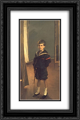 Portrait of James Murdock Clark Jr. 16x24 Black or Gold Ornate Framed and Double Matted Art Print by Cecilia Beaux