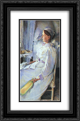 Mrs Jedediah H. Richards 16x24 Black or Gold Ornate Framed and Double Matted Art Print by Cecilia Beaux