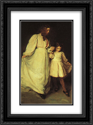 Dorothea and Francesca 18x24 Black or Gold Ornate Framed and Double Matted Art Print by Cecilia Beaux