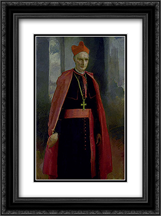 Cardinal Mercier 18x24 Black or Gold Ornate Framed and Double Matted Art Print by Cecilia Beaux
