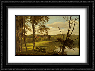 Visborg Gaard 24x18 Black or Gold Ornate Framed and Double Matted Art Print by Carl Fredrik Aagaard