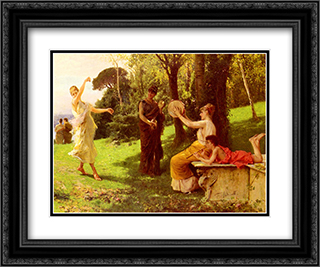 The Dance 24x20 Black or Gold Ornate Framed and Double Matted Art Print by Federico Andreotti