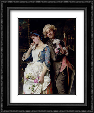 The Persistent Suitor 20x24 Black or Gold Ornate Framed and Double Matted Art Print by Federico Andreotti
