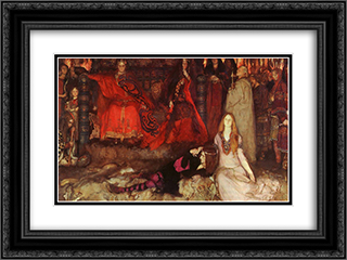 Hamlet Play Scene 24x18 Black or Gold Ornate Framed and Double Matted Art Print by Edwin Austin Abbey