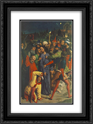 The Capture of Christ 18x24 Black or Gold Ornate Framed and Double Matted Art Print by Dirck Bouts
