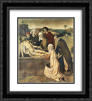 The Entombment 20x22 Black or Gold Ornate Framed and Double Matted Art Print by Dirck Bouts