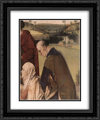 The Entombment (detail) 20x24 Black or Gold Ornate Framed and Double Matted Art Print by Dirck Bouts
