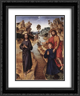 Ecce agnus Dei 20x24 Black or Gold Ornate Framed and Double Matted Art Print by Dirck Bouts