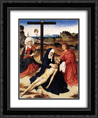 The Lamentation of Christ 20x24 Black or Gold Ornate Framed and Double Matted Art Print by Dirck Bouts