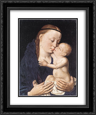 Virgin and Child 20x24 Black or Gold Ornate Framed and Double Matted Art Print by Dirck Bouts