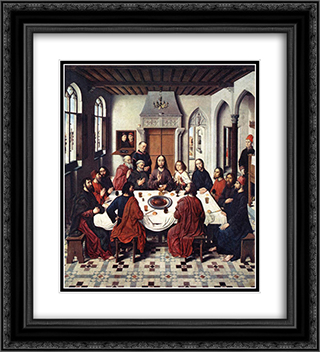 The Last Supper 20x22 Black or Gold Ornate Framed and Double Matted Art Print by Dirck Bouts