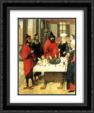 The Feast of the Passover 20x24 Black or Gold Ornate Framed and Double Matted Art Print by Dirck Bouts