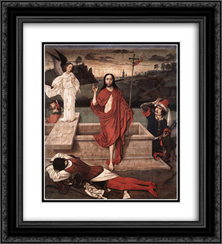 Resurrection 20x22 Black or Gold Ornate Framed and Double Matted Art Print by Dirck Bouts