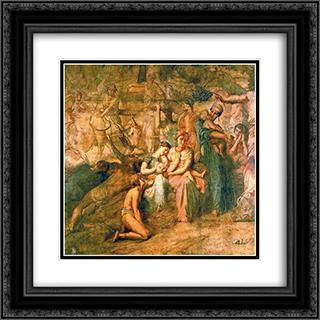 Peace 20x20 Black or Gold Ornate Framed and Double Matted Art Print by Theodore Chasseriau