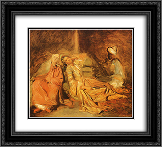 Harem 22x20 Black or Gold Ornate Framed and Double Matted Art Print by Theodore Chasseriau