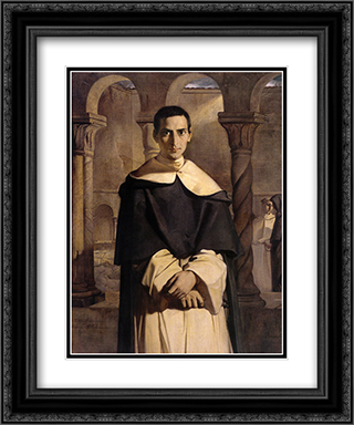 Portrait of the Reverend Father Dominique Lacordaire, of the Order of the Predicant Friars 20x24 Black or Gold Ornate Framed and Double Matted Art Print by Theodore Chasseriau