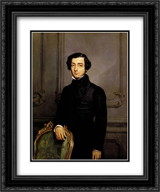 Portrait of Alexis de Toqueville 20x24 Black or Gold Ornate Framed and Double Matted Art Print by Theodore Chasseriau