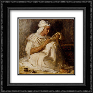 Petit taleb (Poete arabe) 20x20 Black or Gold Ornate Framed and Double Matted Art Print by Theodore Chasseriau
