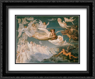 Le Poeme de l'ame ' Le Passage des ames 24x20 Black or Gold Ornate Framed and Double Matted Art Print by Anne Francois Louis Janmot