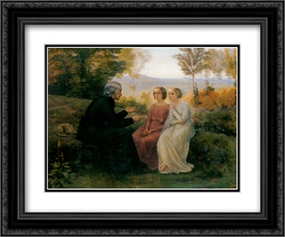 Le Poeme de l'ame ' Le Grain de ble 24x20 Black or Gold Ornate Framed and Double Matted Art Print by Anne Francois Louis Janmot