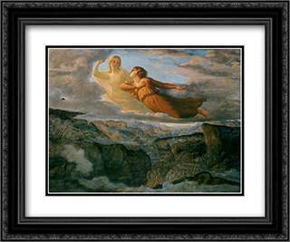 Le Poeme de l'ame ' L'Ideal 24x20 Black or Gold Ornate Framed and Double Matted Art Print by Anne Francois Louis Janmot