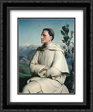 Henri Lacordaire at Sorreze 20x24 Black or Gold Ornate Framed and Double Matted Art Print by Anne Francois Louis Janmot