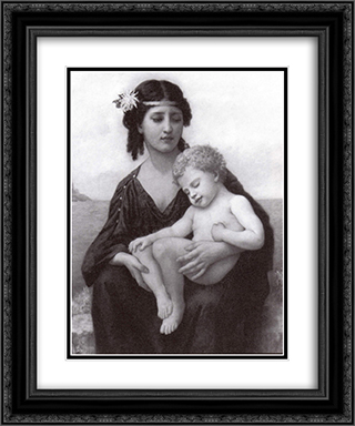 By the Seashore 20x24 Black or Gold Ornate Framed and Double Matted Art Print by Elizabeth Jane Gardner Bouguereau