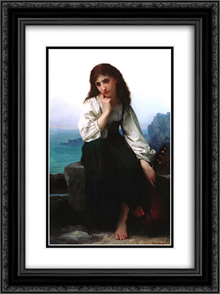 Garde 18x24 Black or Gold Ornate Framed and Double Matted Art Print by Elizabeth Jane Gardner Bouguereau