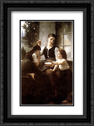 Bubbles 18x24 Black or Gold Ornate Framed and Double Matted Art Print by Elizabeth Jane Gardner Bouguereau