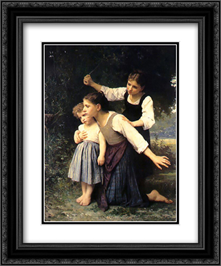 In the Woods 20x24 Black or Gold Ornate Framed and Double Matted Art Print by Elizabeth Jane Gardner Bouguereau