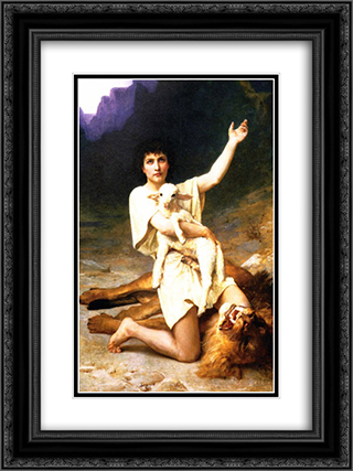 The Shepherd David 18x24 Black or Gold Ornate Framed and Double Matted Art Print by Elizabeth Jane Gardner Bouguereau