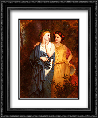 Philomena And Procne 20x24 Black or Gold Ornate Framed and Double Matted Art Print by Elizabeth Jane Gardner Bouguereau