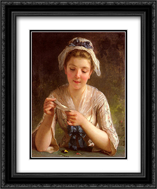 La Lettre 20x24 Black or Gold Ornate Framed and Double Matted Art Print by Emile Munier