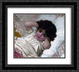 Portrait de Marie'Louise 22x20 Black or Gold Ornate Framed and Double Matted Art Print by Emile Munier
