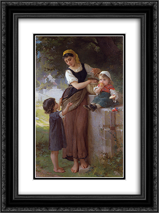 May I Have One Too 18x24 Black or Gold Ornate Framed and Double Matted Art Print by Emile Munier